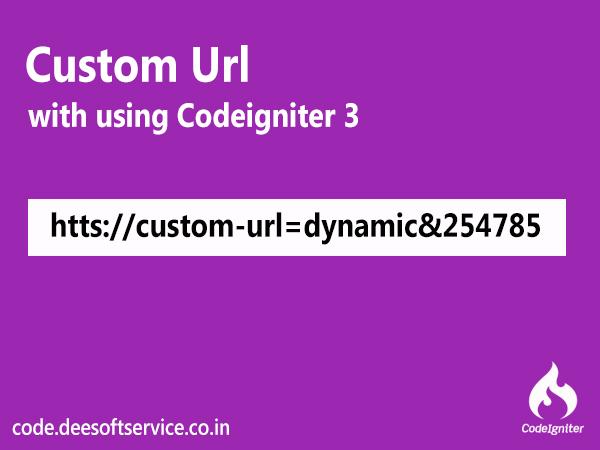 Custom Urls and SEO Friendly Url in Codeigniter 3