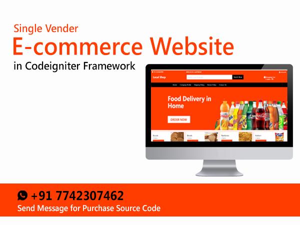 Download e Commerce Website Codeigniter e Commerce
