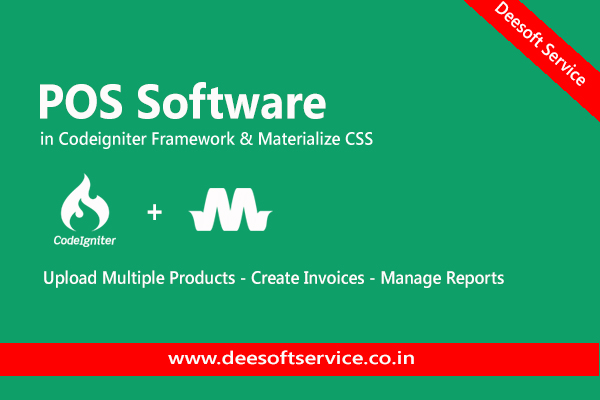 POS Software in Codeigniter